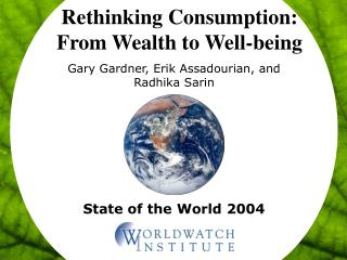 Rethinking Consumption: From Wealth to Well-being