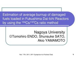 Nov. 17th, 2011, 2011 Symposium on Nuclear Data