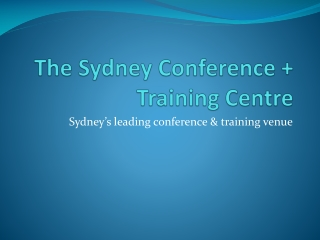 The Sydney Conference + Training Centre