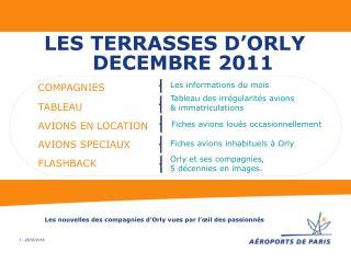 LES TERRASSES D ORLY  DECEMBRE 2011