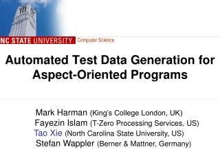 Automated Test Data Generation for Aspect-Oriented Programs