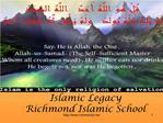 Islamic Legacy Richmond Islamic School