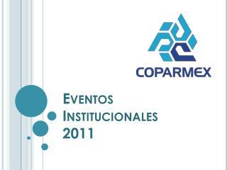Eventos Institucionales 2011
