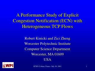 A Performance Study of Explicit Congestion Notification ECN with Heterogeneous TCP Flows