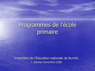 Programmes de l  cole primaire