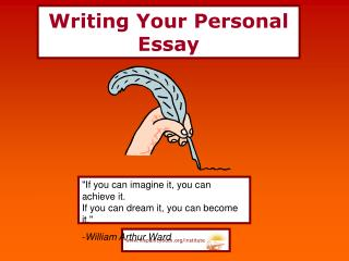 Writing Your Personal Essay