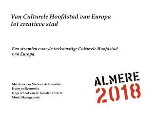 Van Culturele Hoofdstad van Europa  tot creatieve stad