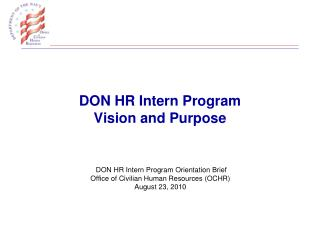 DON HR Intern Program Vision and Purpose