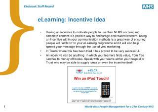 ELearning: Incentive Idea