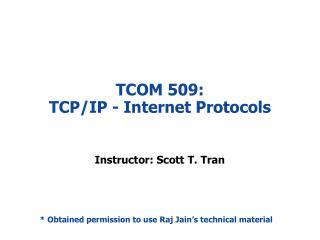 TCOM 509: TCP