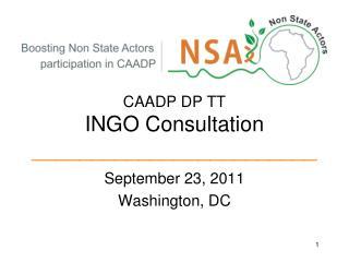 CAADP DP TT INGO Consultation ________________________