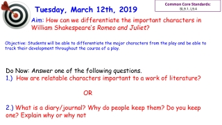 Analyzing Literature:  It s a lot easier than you think