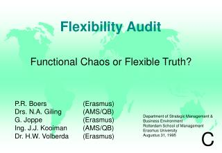 Flexibility Audit