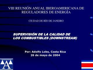 VIII REUNI N ANUAL IBEROAMERICANA DE REGULADORES DE ENERG A  CIUDAD DE R O DE JANEIRO