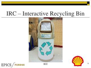 IRC   Interactive Recycling Bin
