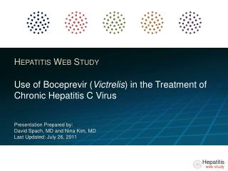 Use of Boceprevir Victrelis in the Treatment of Chronic Hepatitis C Virus