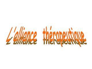 Lalliance  th rapeutique