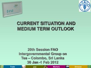 20th Session FAO Intergovernmental Group on Tea   Colombo, Sri Lanka  30 Jan -1 Feb 2012