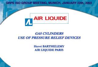 GRPE ISO GROUP MEETING, MUNICH, JANUARY 22th, 2003
