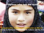 Filipinos who tell the truth