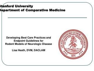 Stanford University Department of Comparative Medicine