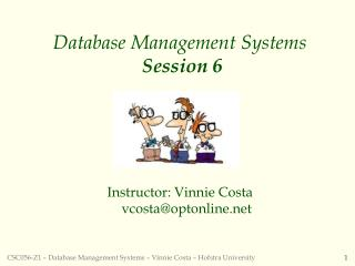Database Management Systems  Session 6