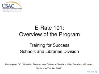 E-Rate 101: Overview of the Program