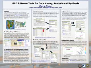 GCE Software Tools for Data Mining, Analysis and Synthesis