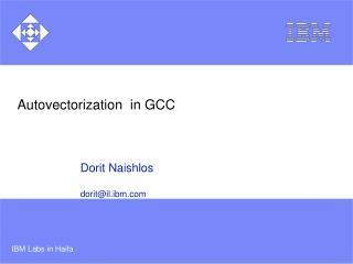 Autovectorization  in GCC
