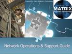 Network Operations  Support Guide