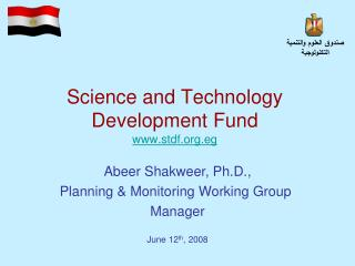 Science and Technology Development Fund stdf.eg