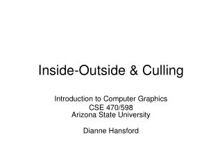 Inside-Outside  Culling
