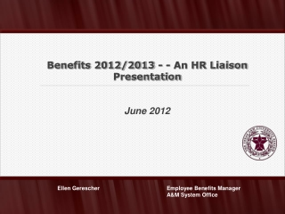 Benefits Changes for Plan Years 2012-2013