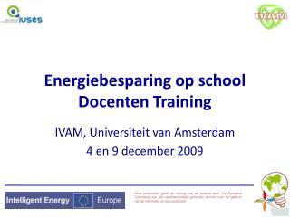 Energiebesparing op school  Docenten Training