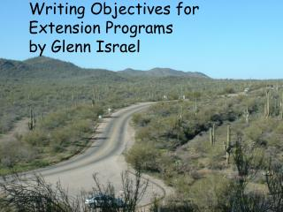 Writing Objectives for Extension Programs by Glenn Israel