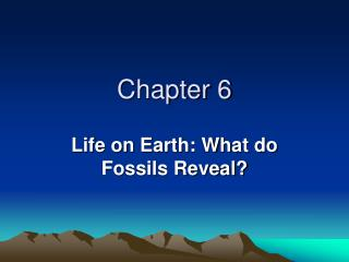 Life on Earth: What do Fossils Reveal