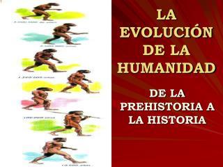 LA EVOLUCI N DE LA HUMANIDAD