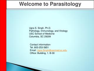 Welcome to Parasitology