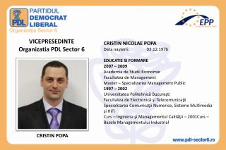 VICEPRESEDINTE Organizatia PDL Sector 6