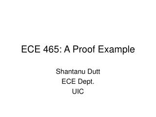 ECE 465: A Proof Example
