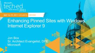 Enhancing Pinned Sites with Windows Internet Explorer 9