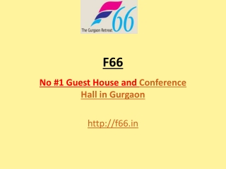 F66 - The Venue conference and Conference hall in Gurgaon