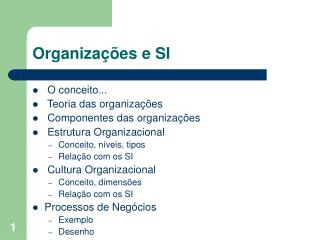 Organiza  es e SI
