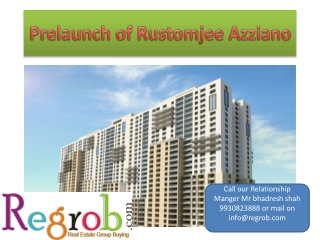 get prelaunch rustomjee azziano apartment in thane mumbai
