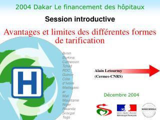 2004 Dakar Le financement des h pitaux
