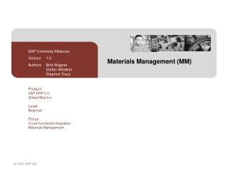 Materials Management MM