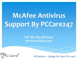 PCCare247 - McAfee Antivirus Support to Install, Uninstall a