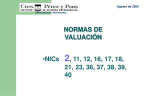 Normas de Valuaci n