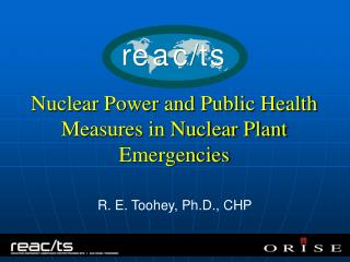 Nuclear Power and Public Health Measures in Nuclear Plant Emergencies