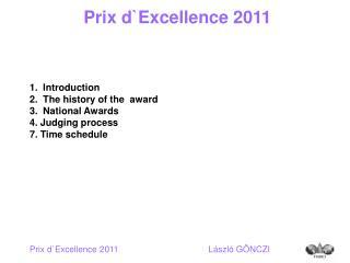 Prix dExcellence 2011